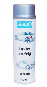 ZEMAX STUDIO LAKIER DO FELG SREBRNY W SPRAYU 500ml