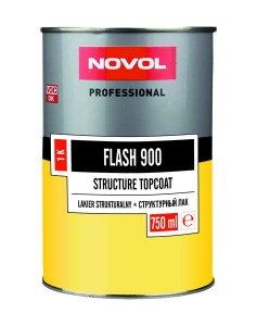NOVOL FLASH 900 LAKIER STRUKTURALNY DO PLASTIKU 750ml